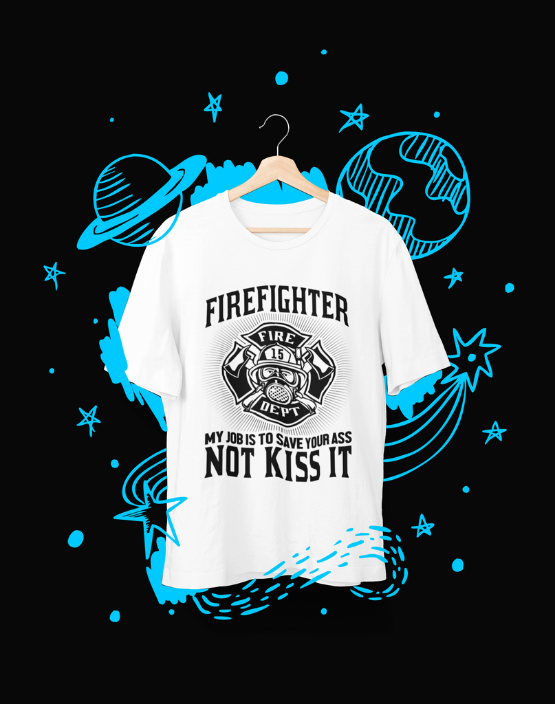 Fire Fighter is my job - T-Shirt - Shirto.nl