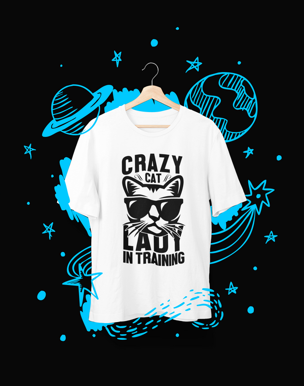 Crazy cat Lady in Training - T-Shirt - Shirto.nl