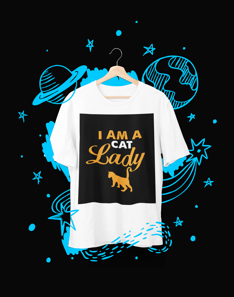 I am a cat lady - T-Shirt - Shirto.nl