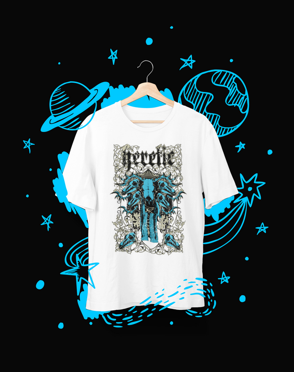 Heretic Blue - T-Shirt - Shirto.nl