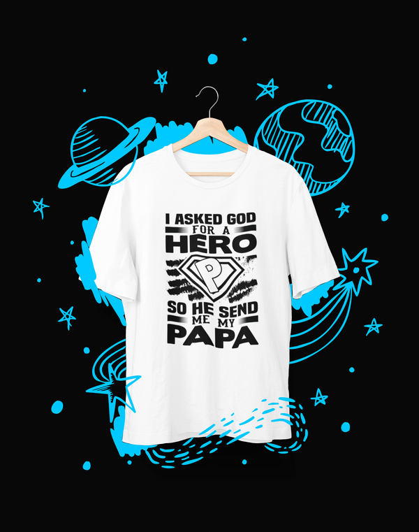 I asked God - T-Shirt - Shirto.nl