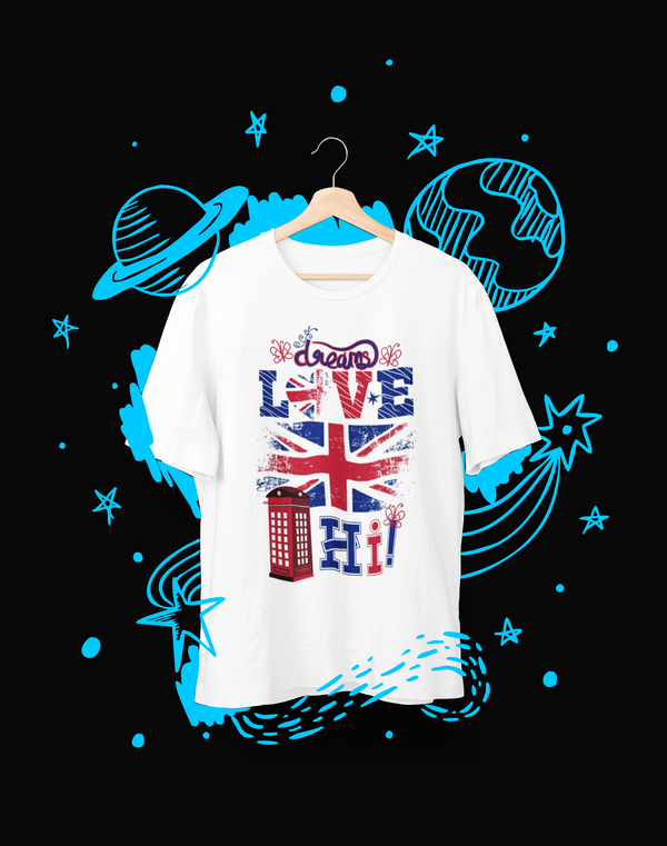 Dreams Love Hi! - T-Shirt - Shirto.nl