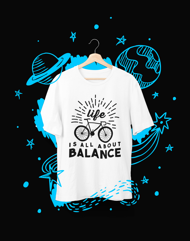Life is all about balance - T-Shirt - Shirto.nl