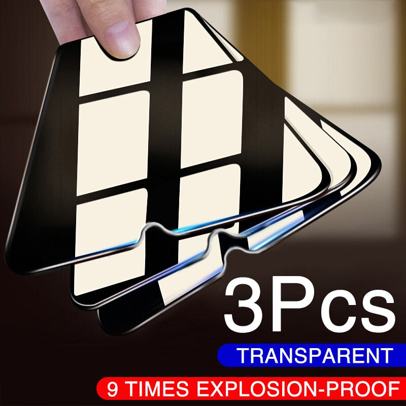 3PCS Full Protective Glass For Xiaomi Redmi Note 8 7 6 5 Pro Note 9 Pro Max Tempered Glass Screen Protector For Redmi 7 8 Film