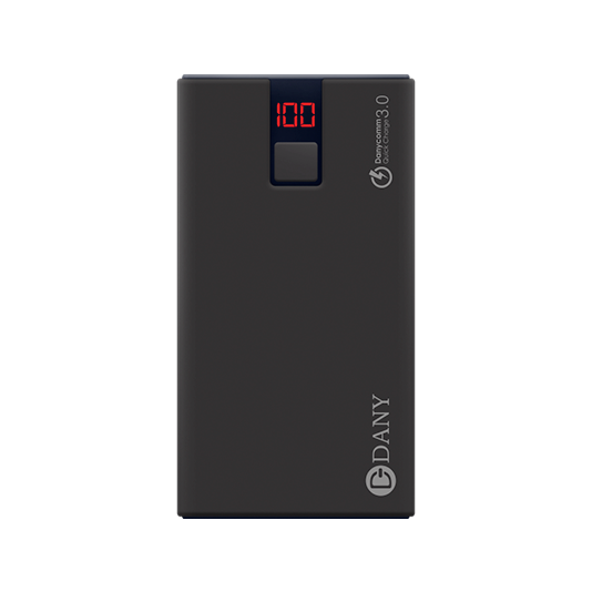 Pb-108 (10000Mah) Power Bank (Black Pearl Colour) - Dany Technologies