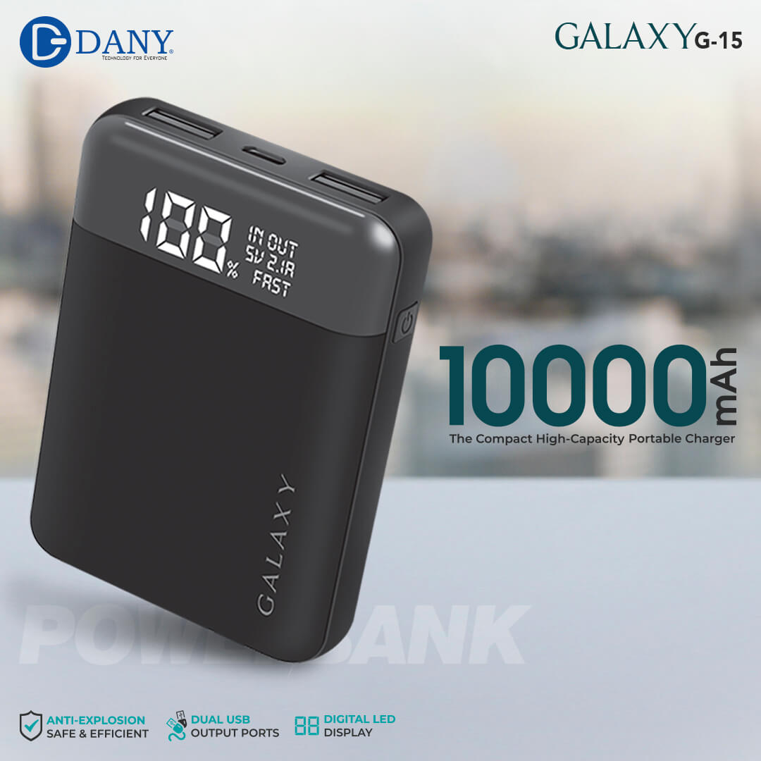 Galaxy G-15 (10,000 mAh) Power Bank