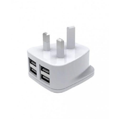 "Dany H-84 ""T"" SHAPE 4 USB UK HOME CHARGER 2.1A"