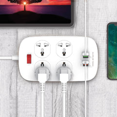 PP1 4 POWER SOCKET 4 USB (18W PD CHARGER) - Dany Technologies
