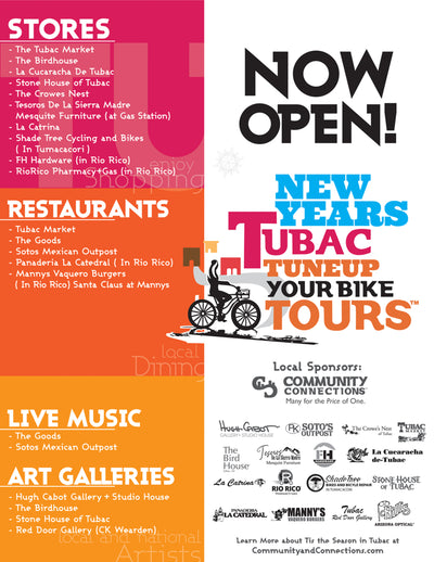 New Years Tubac Arizona Tune Up Your Bike Tours ( Now Open ! Stores Restaurants Art Galleries Live Music )