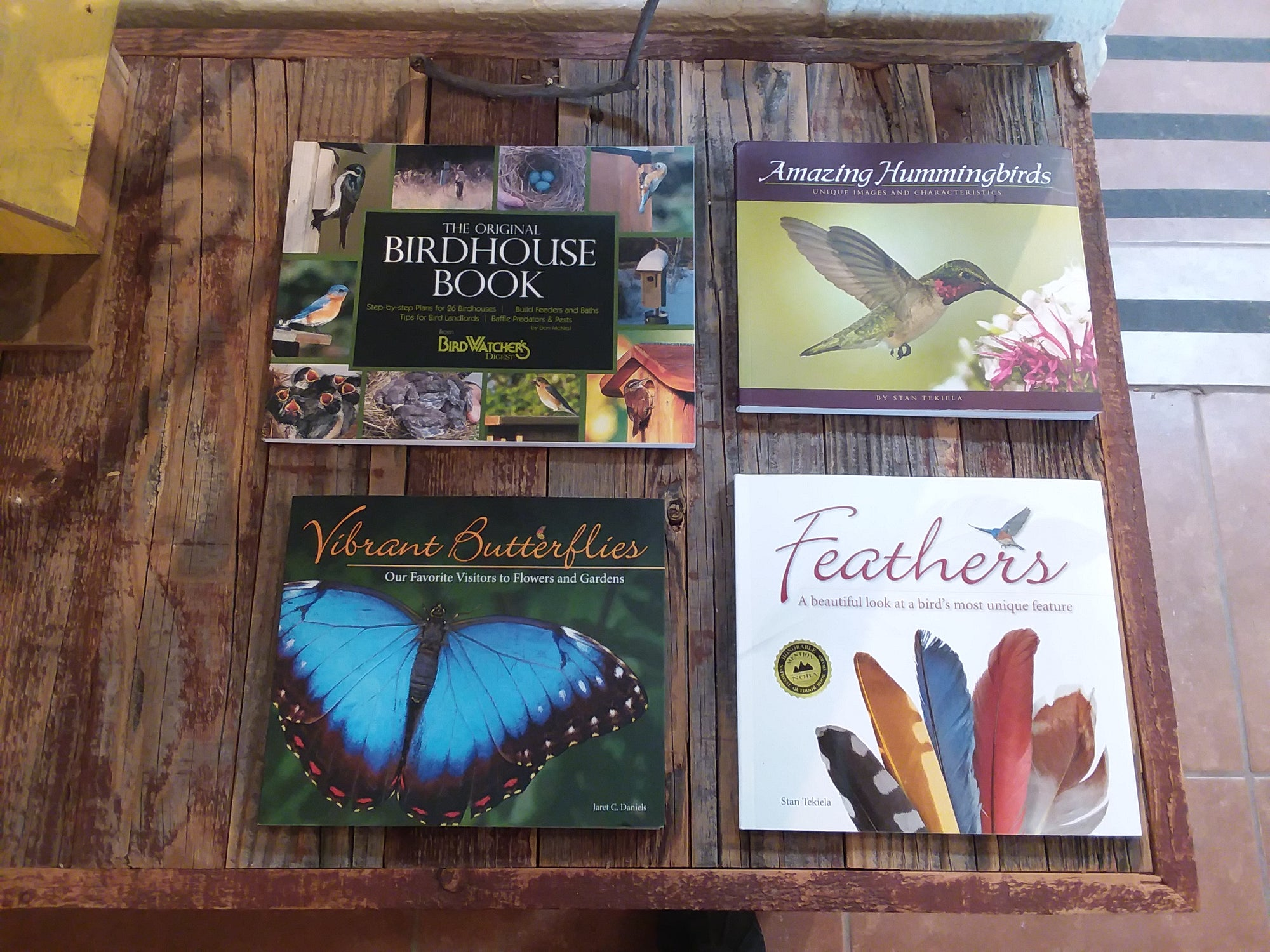 Humming Bird and Butterfly Books ( Available for Pick Up at The Birdhouse inTubac Arizona)