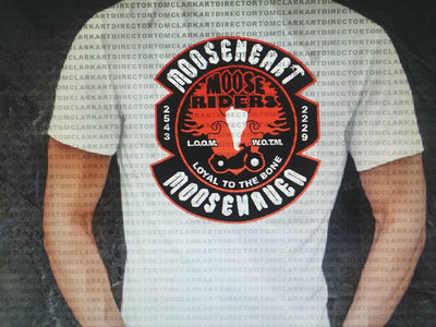 Moose Riders Mens Double Sided White Shirts