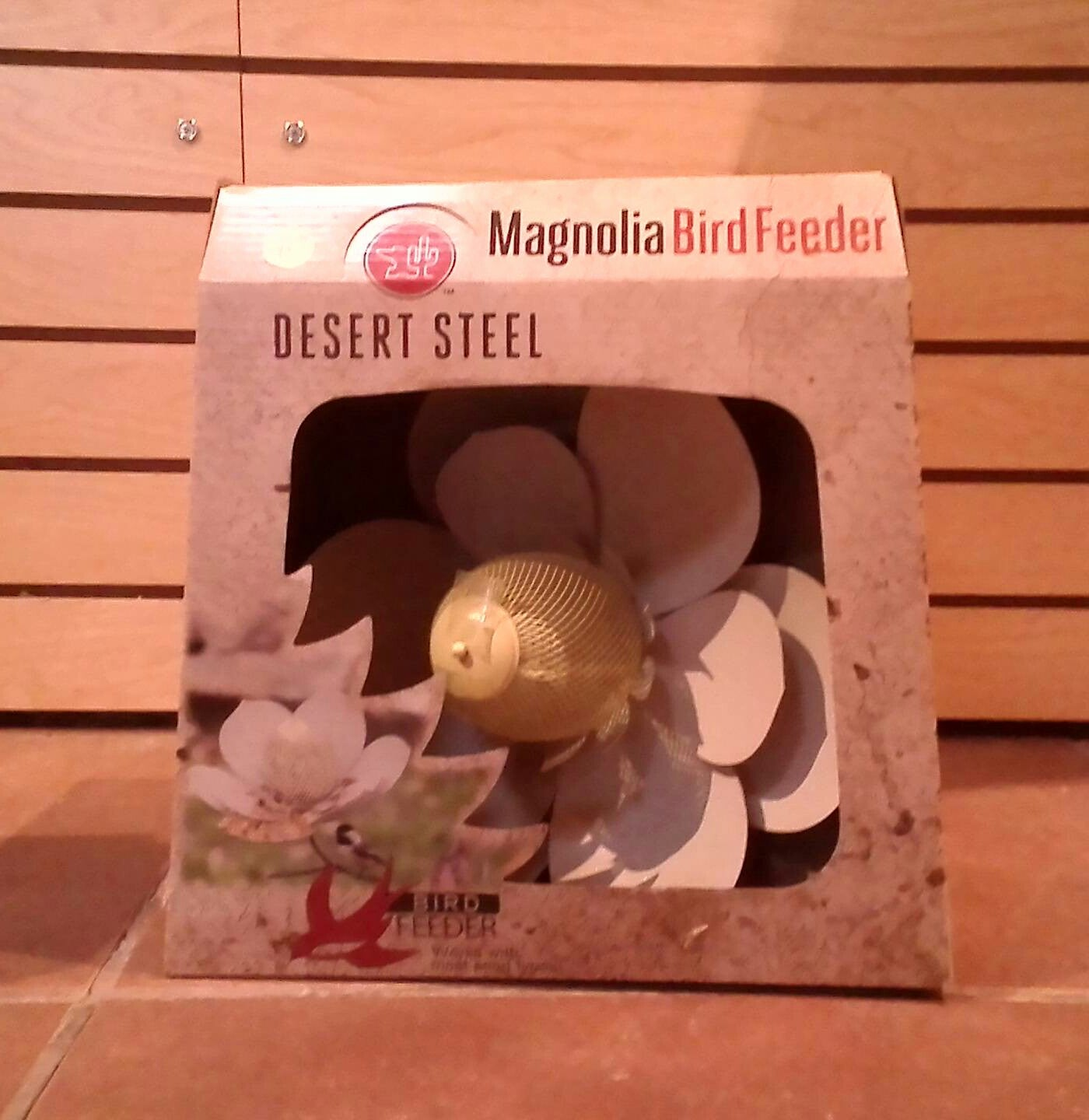 Desert Steel Magnolia Bird Feeder (Available for Pickup at The Birdhouse in Tubac Arizona)