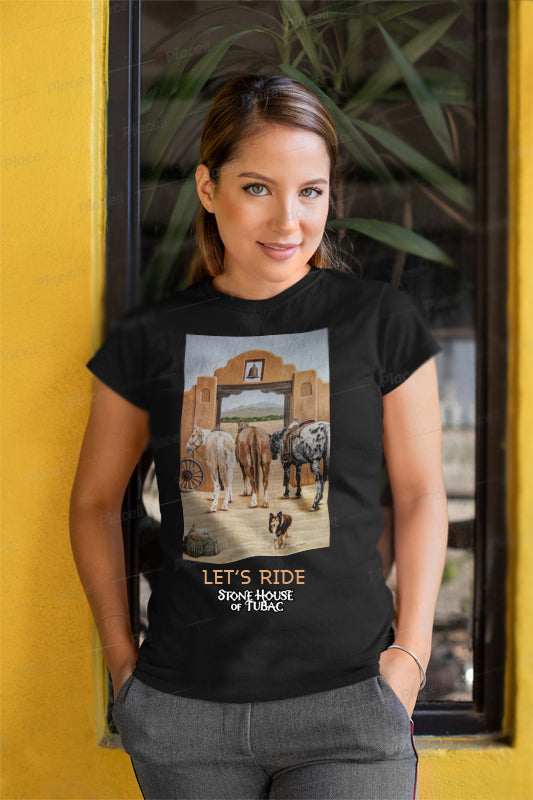 Montana_and_Horses T-Shirt from Stone House of Tubac