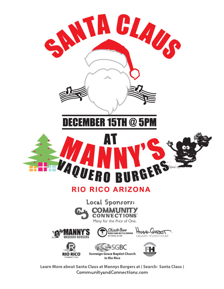Final Christmas 2020 Vaquero Burgers Santa Claus Dec 15th