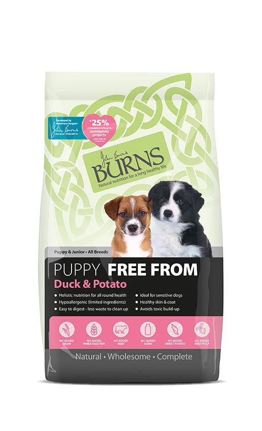 Burns Puppy Free From - Duck & Potato