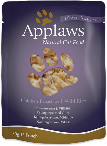 Applaws - Chicken Breast with Wild Rice (12x70g)