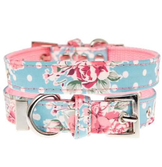 Urban Pup - Vintage Rose Floral Fabric Collar