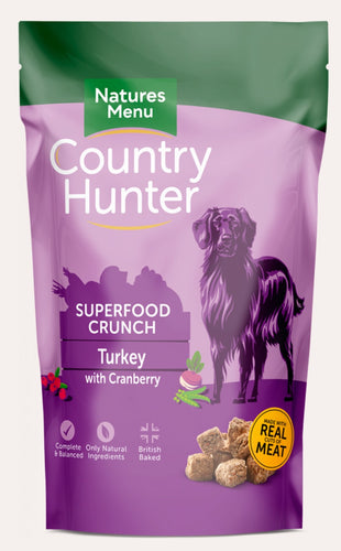 Natures Menu - Country Hunter Superfood Crunch Turkey 1.2kg