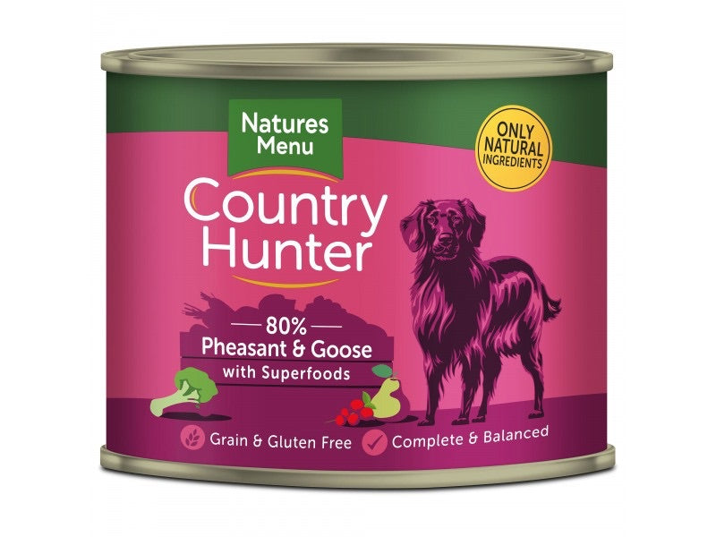Natures Menu - Country Hunter Seriously Meaty Pheasant & Goose Can 600g