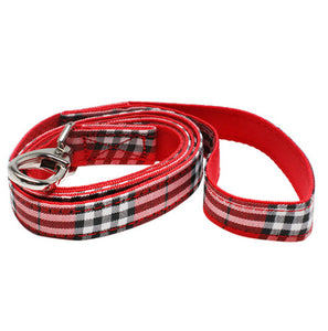 Urban Pup - Red Checked Tartan Fabric Lead