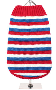 Urban Pup - Red, White & Blue Striped Jumper