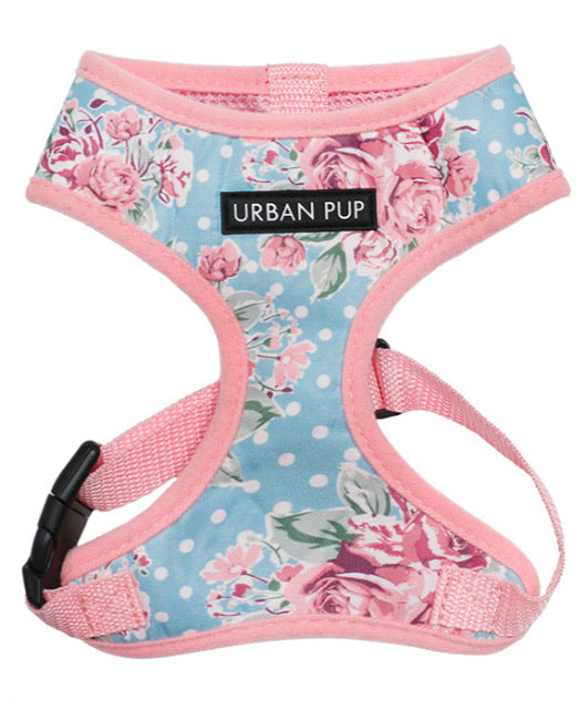Urban Pup - Vintage Rose Floral Harness