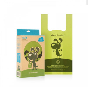 Earth Rated - Poo Bags 120 Unscented Tie Handle Bags