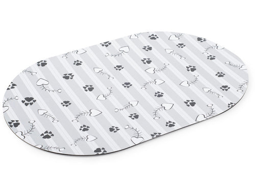 Ancol - Grey Striped Feeding Mat