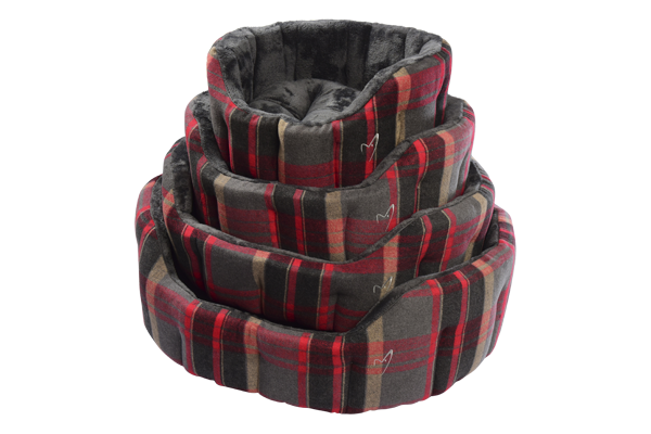 Gor Pets - Camden Deluxe Bed Red Check