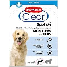 Bob Martin - Clear Spot On for Medium Dogs 20 up to 40kg (1 pippette)