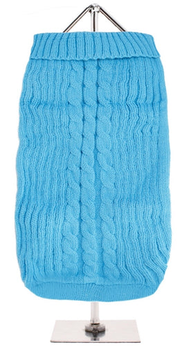 Urban Pup - Blue Cable Knit Sweater