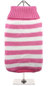 Urban Pup - Pink & White Candy Striped Sweater
