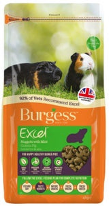 Burgess - Excel Adult Guinea Pig Nuggets with Mint