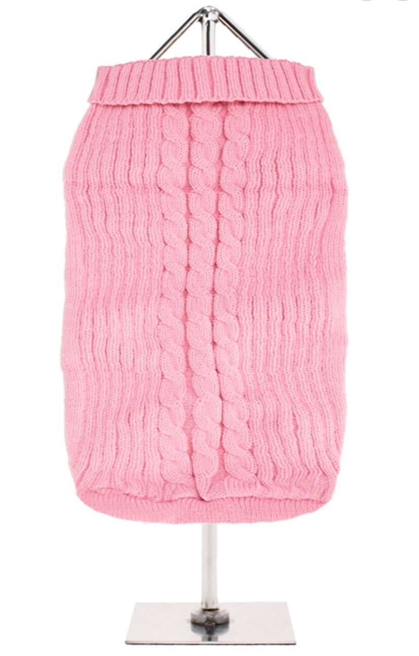 Urban Pup - Pink Cable Knit Sweater