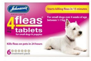 Johnson's - 4Fleas Tablets for Small Dogs & Puppies (6 Tablets)
