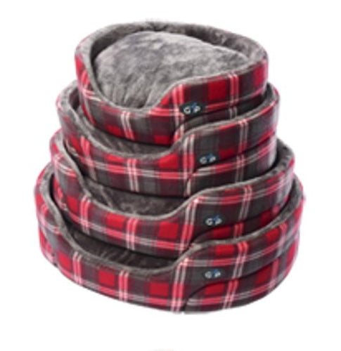 Gor Pets - Essence Bed Red Check