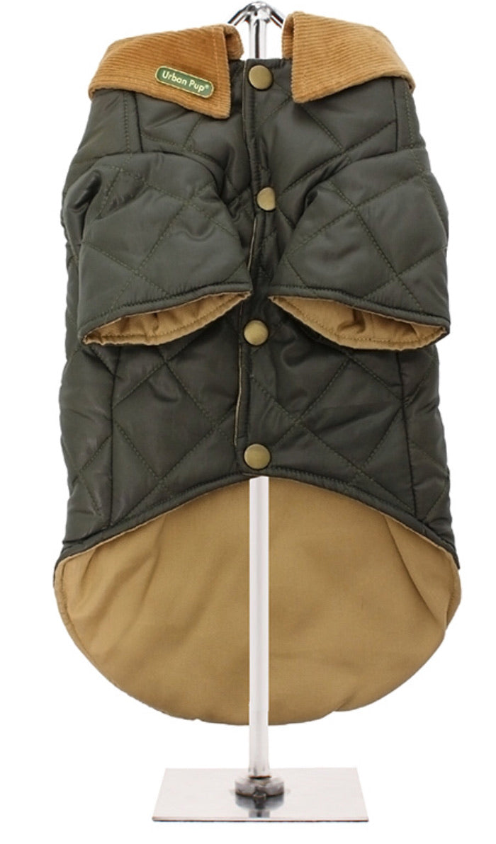 Urban Pup - Forest Green Quilted Town & Country Coat