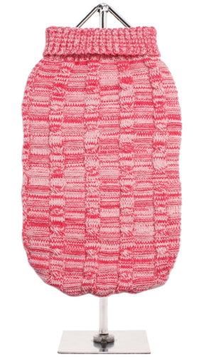 Urban Pup - Pink Waffle Knitted Sweater