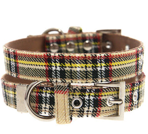 Urban Pup - Brown Tartan Fabric Collar