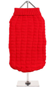 Urban Pup - Red Waffle Knitted Sweater