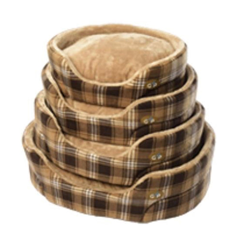 Gor Pets - Essence Bed Brown Check
