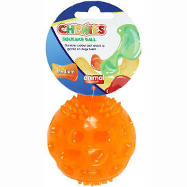 Animal Instincts - Chewies Squeaky Ball Medium (Colours Vary)