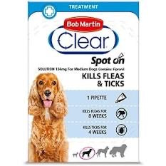 Bob Martin - Clear Spot On for Medium Dogs 10 up to 20kg (1 pippette)