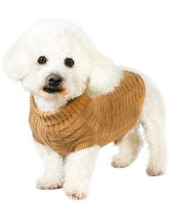 Urban Pup - Brown Waffle Knitted Sweater