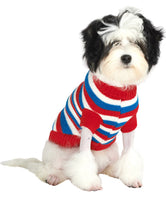 Load image into Gallery viewer, Urban Pup - Red, White & Blue Striped Jumper