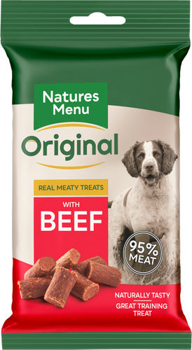 Natures Menu Meaty Dog Treats - Beef