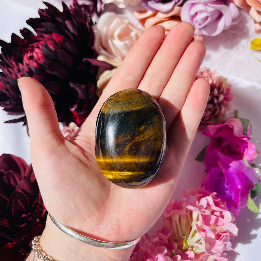Tigers Eye Palm Stone