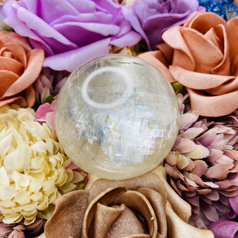 Clear Calcite Sphere