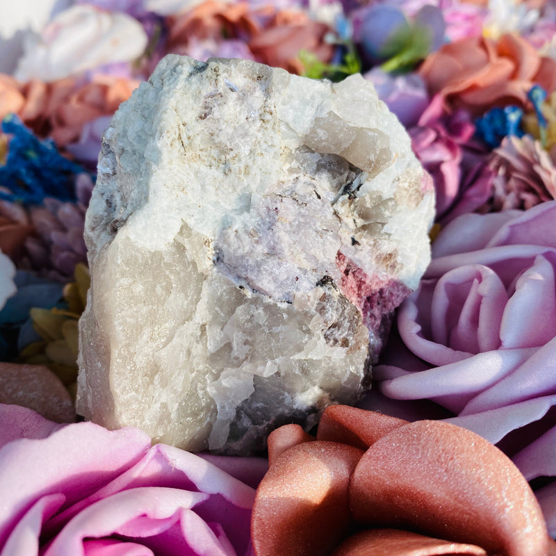 Pink Tourmaline, Lepidolite and Quartz