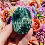 Seraphinite Palm Stone - AP Crystals